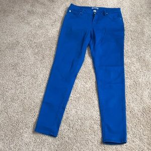 Express size 8, blue skinny ankle jeans .
